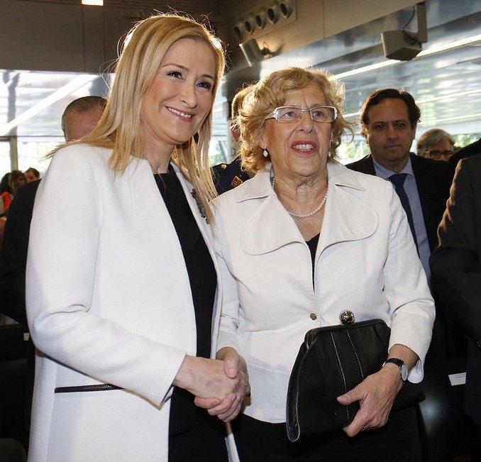 Cristina Cifuentes y Manuela Carmena. Foto: D.Sinova / Comunidad de Madrid