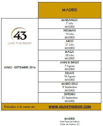 Calendario de conciertos en Madrid