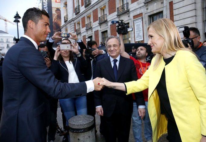 Cristiano Ronaldo y Cristina Cifuentes