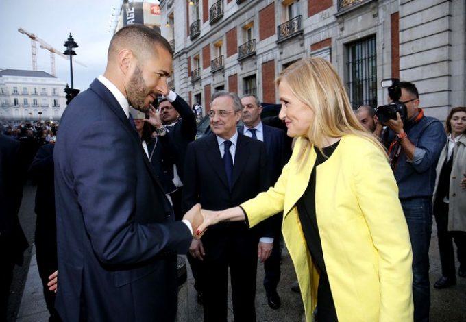 Karim Benzema y Cristina Cifuentes