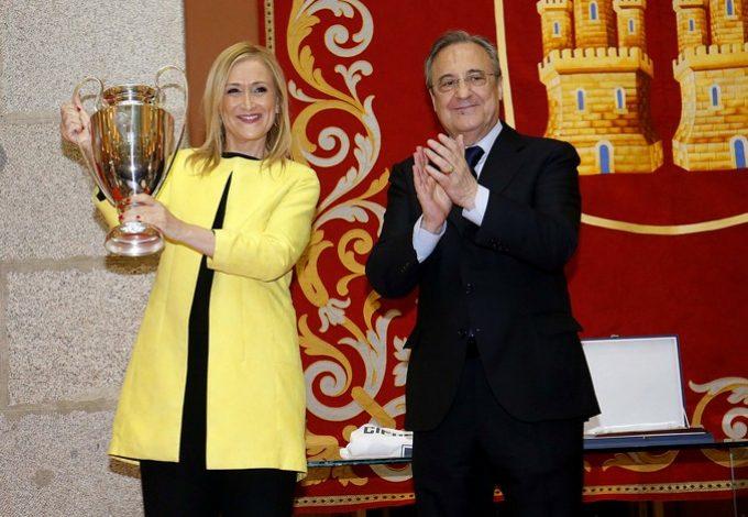 Cristina Cifuentes y Florentino Pérez