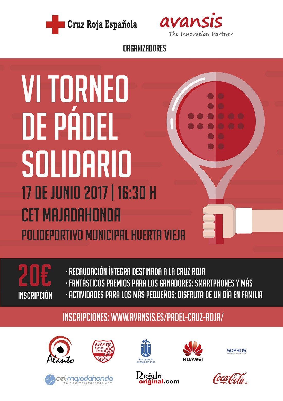 Vi torneo de padel solidario en beneficio de cruz roja for Piscina municipal majadahonda