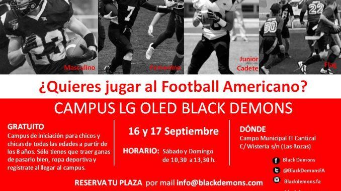 El club Las Rozas Black Demons organiza su campus de iniciación al ... 701cf3f61cd